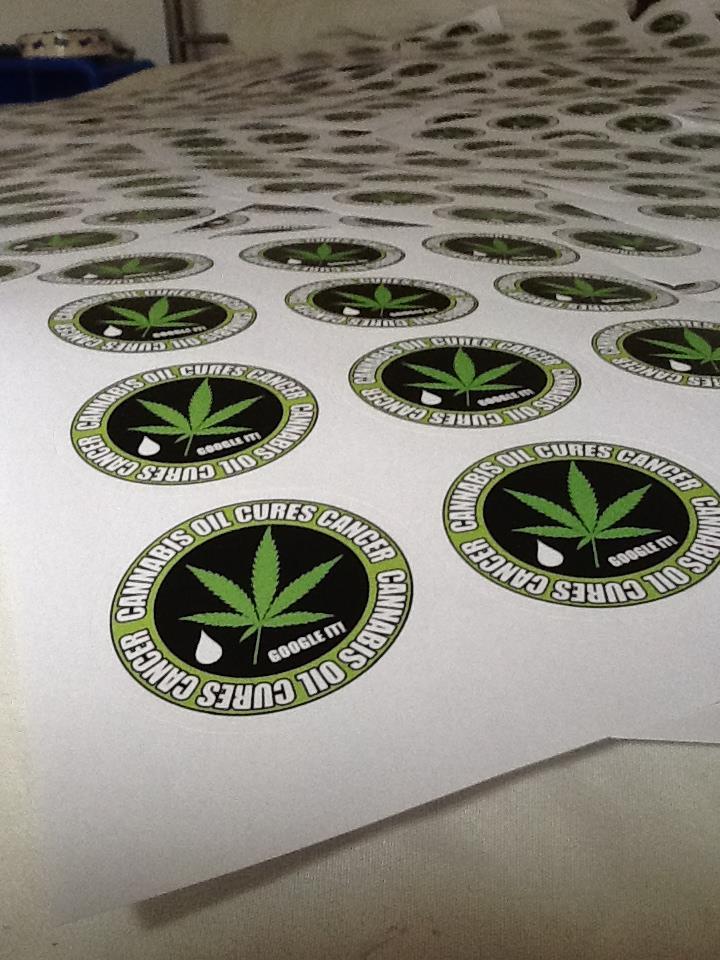 cannabis stickers 2